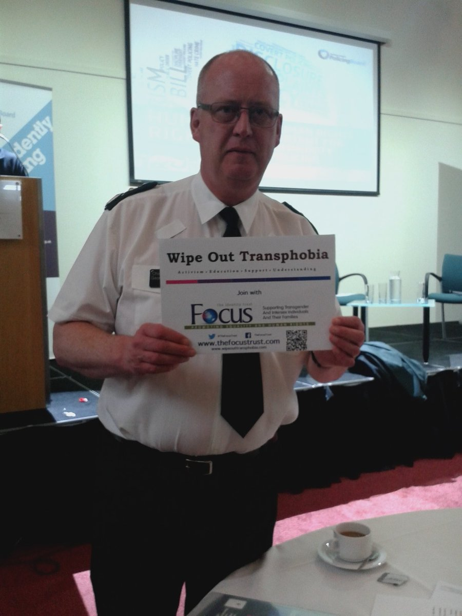 Our Chief Constable George Hamilton has supported our  campaign to Wipe Out Transphobia