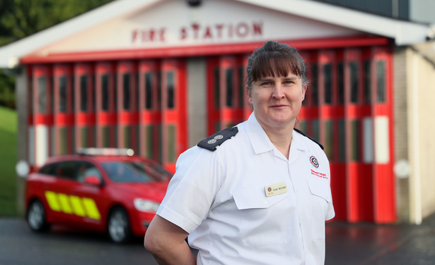 A member of the Northern Ireland Fire and Rescue Service has been made an MBE for her work in helping the raise awareness transgender individuals